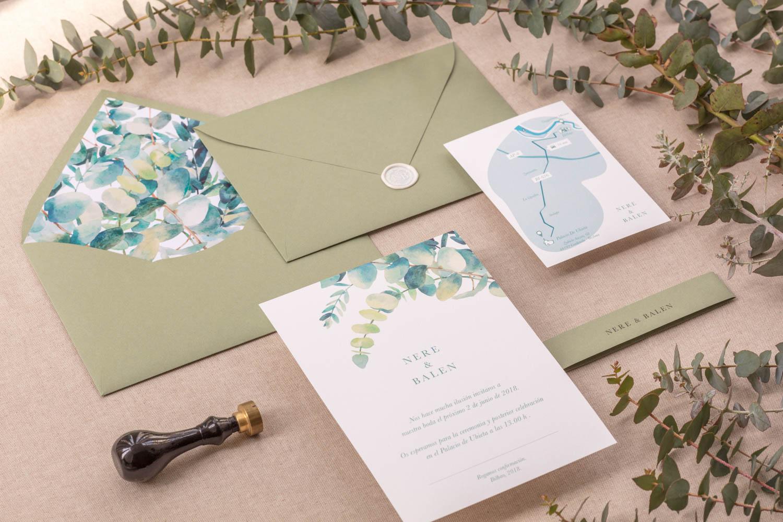 Invitaciones Eucaliptus